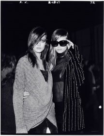 Karmen and Abbey Lee Backstage at Alexander Wang, F/W 2010