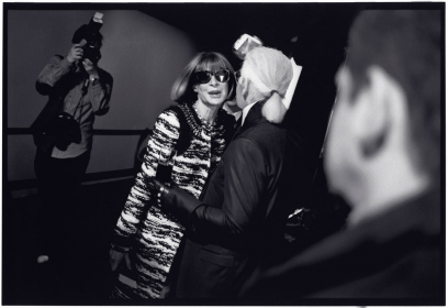 Anna Wintour and Karl Lagerfeld Backstage at Karl Lagerfeld Collection, F/W 2010