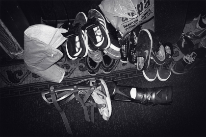 Untitled (Finland #54, Shoes and Ankle Braces), 2010