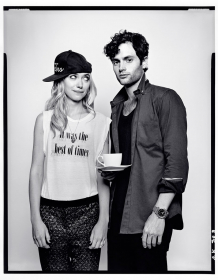 Imogen Poots and Penn Badgley at TIFF, 2012