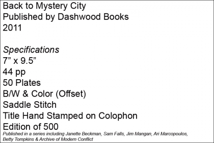 Back to Mystery City – Dashwood Books