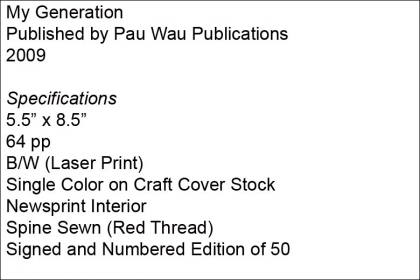 My Generation – Pau Wau Publications