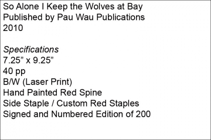 So Alone I Keep the Wolves at Bay – Pau Wau Publications
