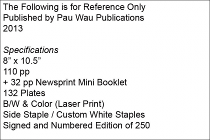 The Following is for Reference Only – Pau Wau Publications